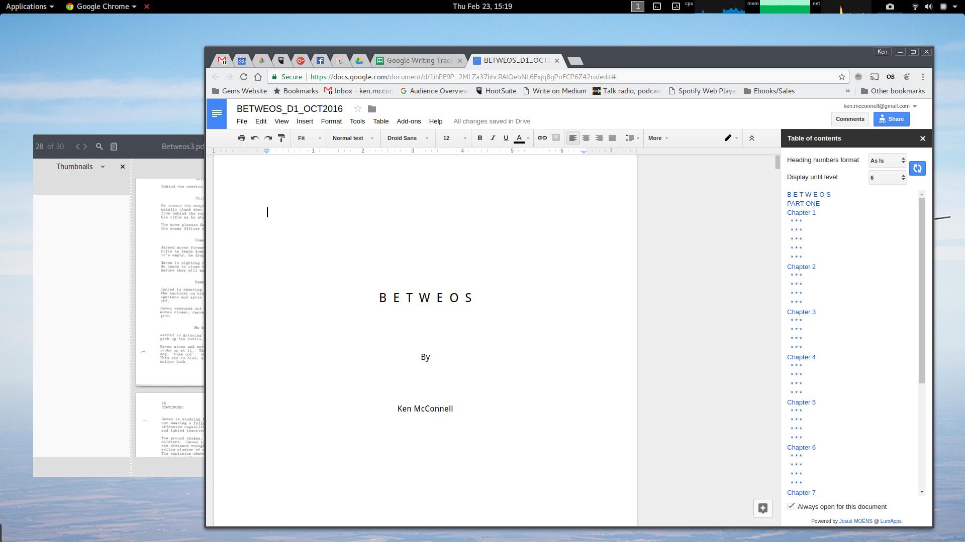 scrivener for chromebook